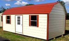 Portable metal building gambrel
