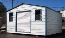 Wide portable metal buildings