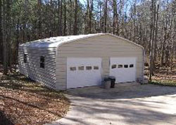 Classic style metal garage