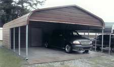Metal carport and storage with gable end