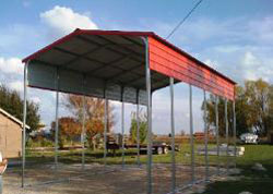 Contemporary style metal carport