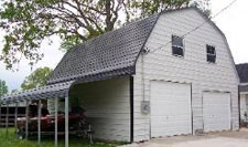 Gambrel barn metal building