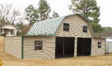 Gambrel barn with extra storage
