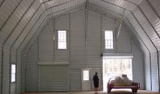 Inside of a Gambrel barn
