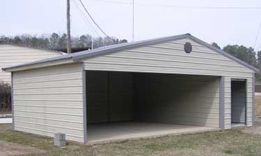 Combo carport garage metal building