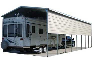 Metal RV cover / canopy