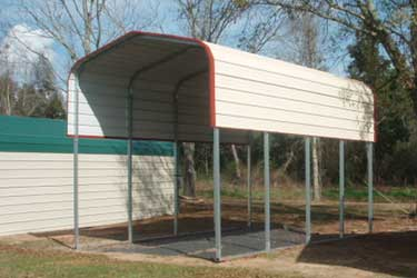 Steel Carport Ground Mount
