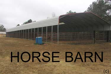 Steel Horse Barn - Large Commercial