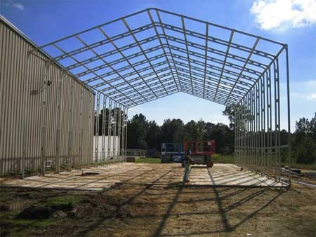 Steel building frame Alabama